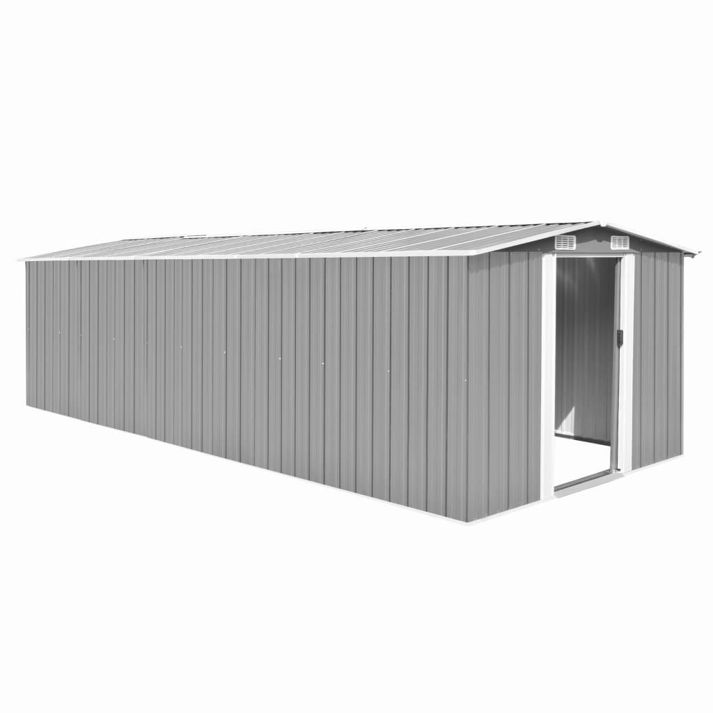 Zahradní domek 257 x 597 x 178 cm kovový šedý