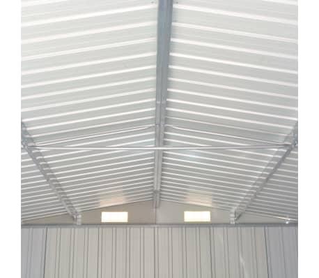 vidaXL Záhradná kôlňa 257x597x178 cm kovová sivá[6/9]
