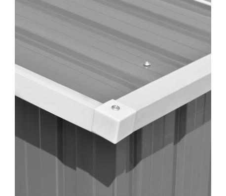 vidaXL Záhradná kôlňa 257x597x178 cm kovová sivá[8/9]
