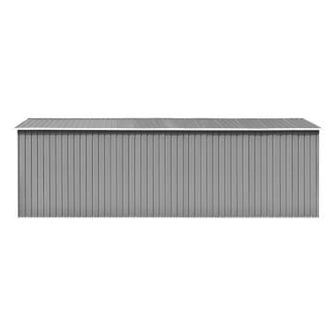 vidaXL Záhradná kôlňa 257x597x178 cm kovová sivá[4/9]