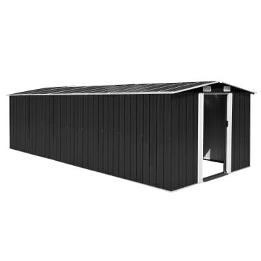 vidaXL Zahradní domek 257 x 597 x 178 cm kovový antracitový[1/9]