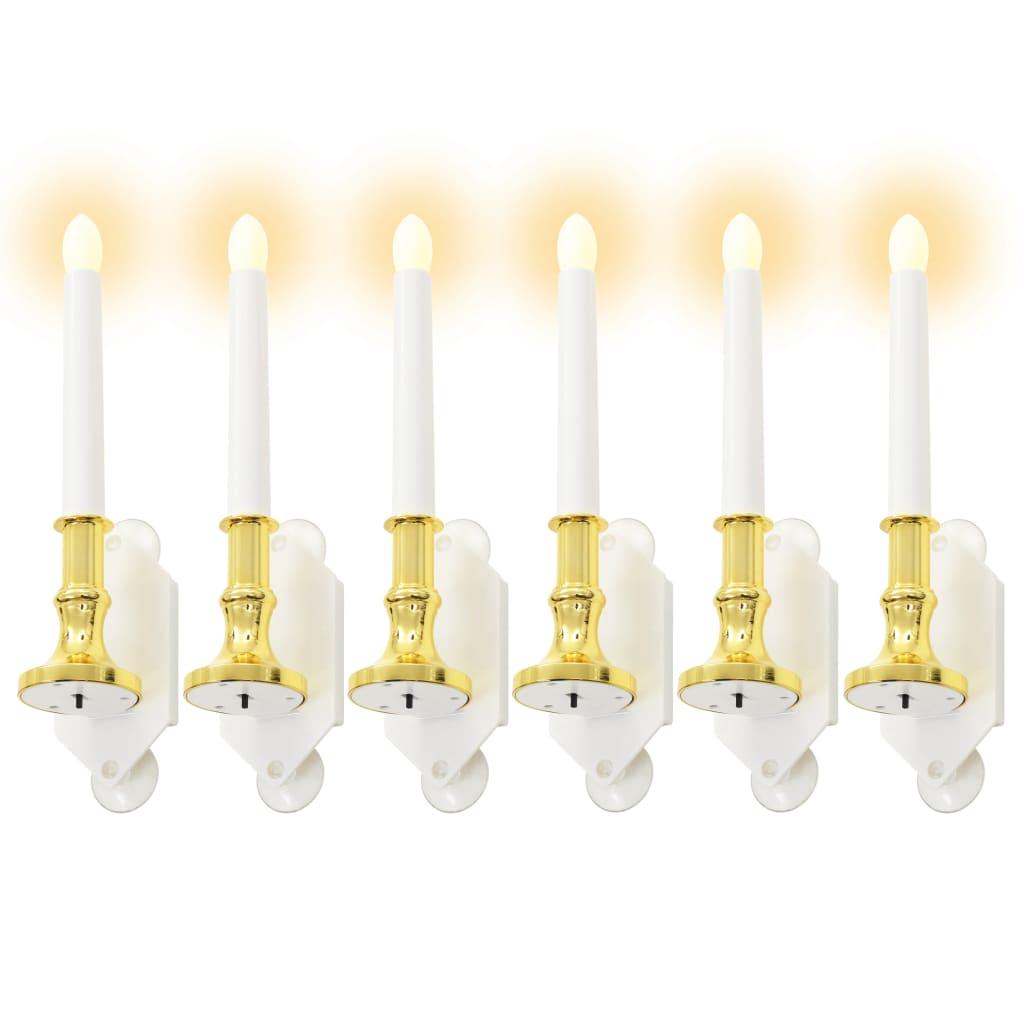 Solární svíčky 6 ks LED žávoky teplé bílé