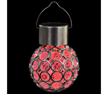vidaXL Hängande solcellslampa 8 st LED-lampor RGB[10/12]