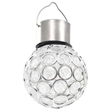 vidaXL Wiszące lampy solarne, 8 szt., LED RGB[5/12]