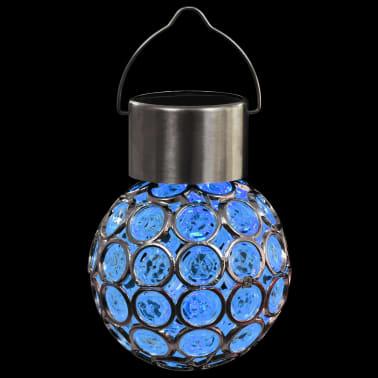 vidaXL Wiszące lampy solarne, 8 szt., LED RGB[8/12]