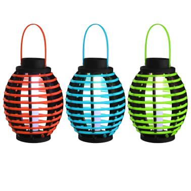 vidaXL Hengende soldrevne lamper 3 stk LED-lys hvit[1/6]