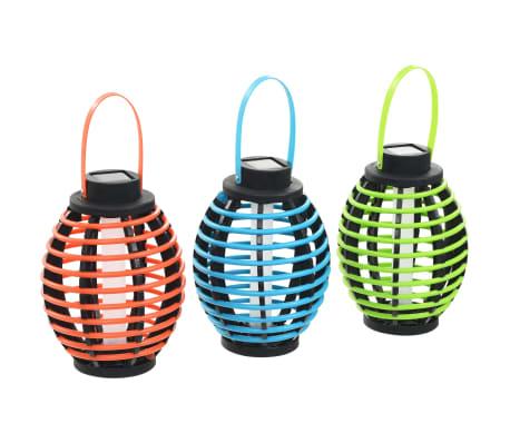vidaXL Hengende soldrevne lamper 3 stk LED-lys hvit[2/6]