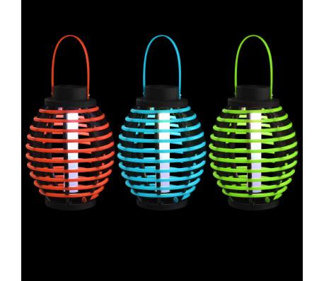 vidaXL Hengende soldrevne lamper 3 stk LED-lys hvit[6/6]