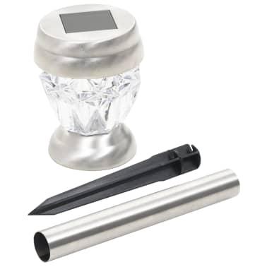 vidaXL Stojací solární lampy 12 ks LED žárovky bílé[4/7]