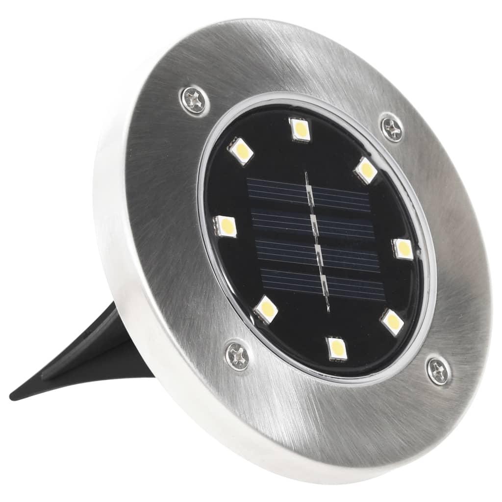 vidaXL Solargrondlampen 8 st LED-lichten wit
