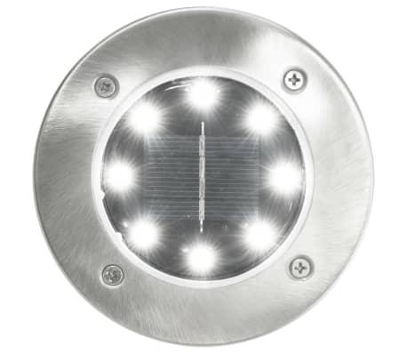 vidaXL Marklampor soldrivna 8 st LED vit[2/6]