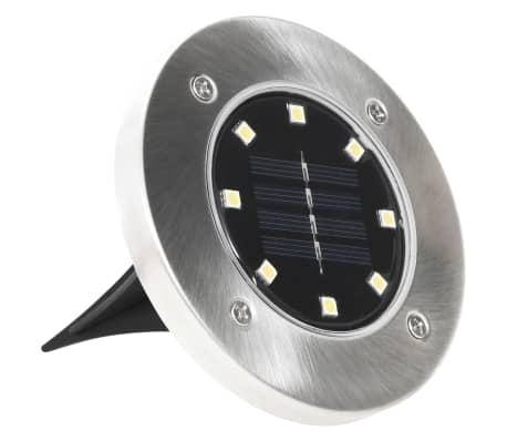 vidaXL Marklampor soldrivna 8 st LED vit[4/6]