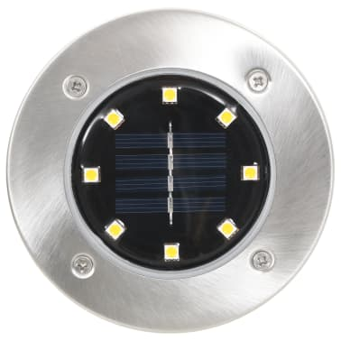 vidaXL solcellejordlys 8 stk. LED-lys hvid[3/6]