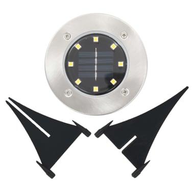 vidaXL Marklampor soldrivna 8 st LED vit[6/6]