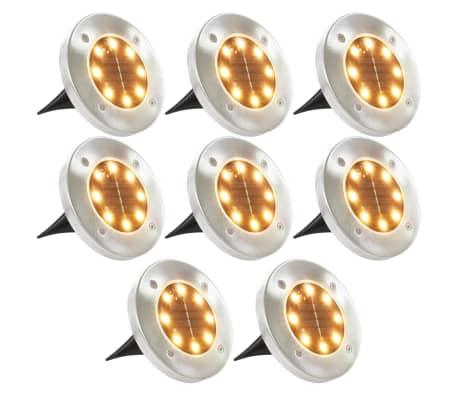 vidaXL 8 darab meleg fehér napelemes talajba szúrható LED-lámpa