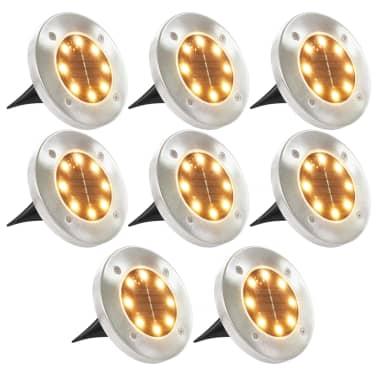 vidaXL Solární světlo k zapíchnutí do země 8 ks LED teplá bílá[1/6]