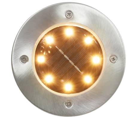 vidaXL Solární světlo k zapíchnutí do země 8 ks LED teplá bílá[2/6]