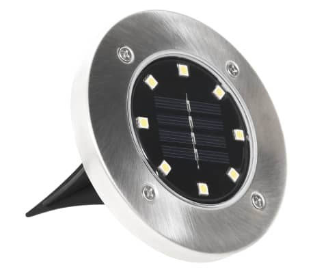 vidaXL Solární světlo k zapíchnutí do země 8 ks LED teplá bílá[4/6]