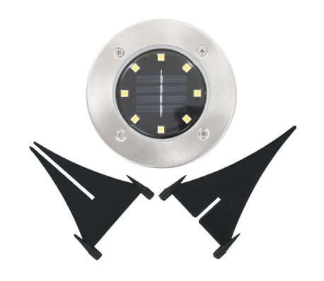 vidaXL Solární světlo k zapíchnutí do země 8 ks LED teplá bílá[6/6]