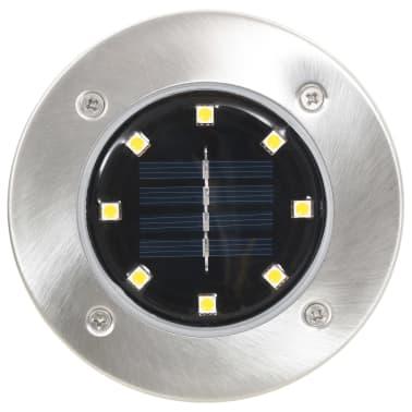 vidaXL Solární světlo k zapíchnutí do země 8 ks LED teplá bílá[3/6]