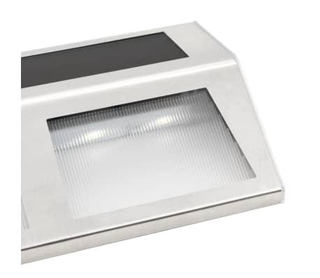 vidaXL Soldrevne lamper 4 stk LED lys varm hvit (44418