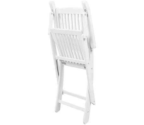 vidaXL Dining Chairs 2 pcs White Solid Acacia Wood[5/6]