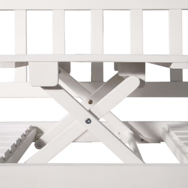 vidaXL Bancă de grădină cu 3 locuri & masă alb 158cm lemn masiv acacia[7/8]