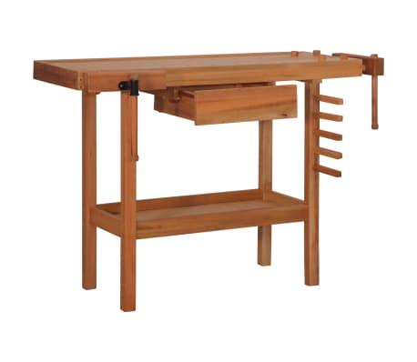 vidaXL Carpentry Work Bench with Drawer 2 Vises Hardwood[2/9]