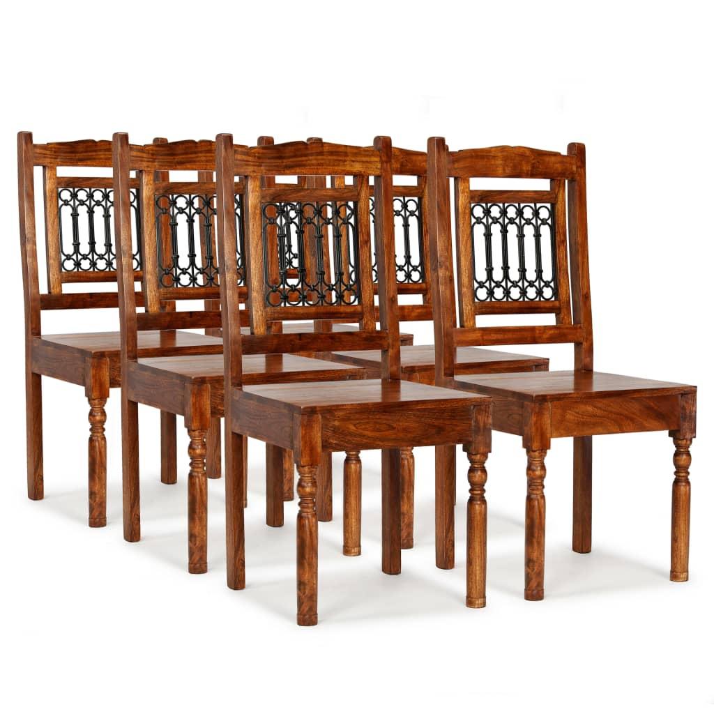 vidaXL Καρέκλες Τραπεζαρίας Κλασικές 6 τεμ. Ξύλο/Φινίρισμα Sheesham