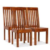vidaXL Dining Chairs 4 pcs Solid Wood with Sheesham Finish Modern