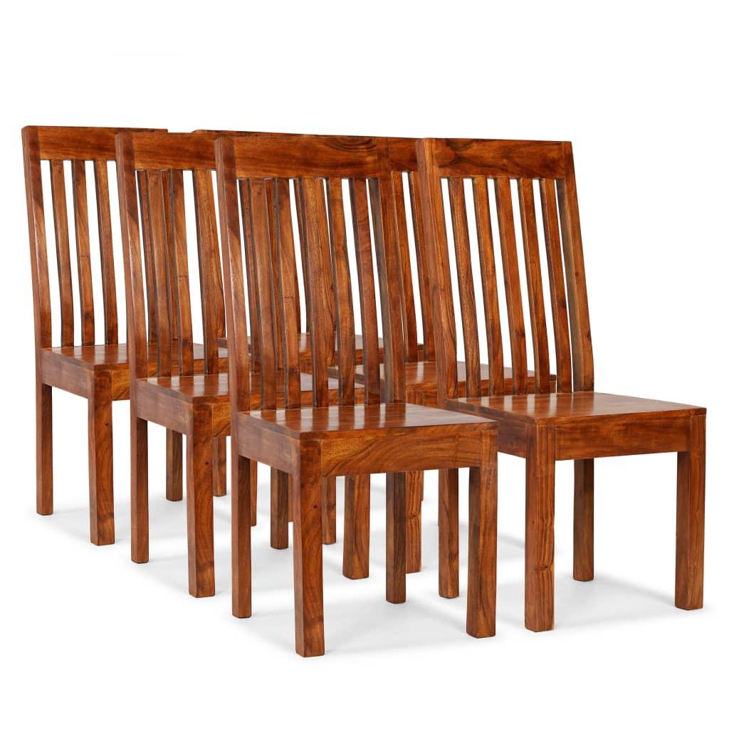 vidaXL Καρέκλες Τραπεζαρίας Μοντέρνες 6 τεμ. Ξύλο / Φινίρισμα Sheesham