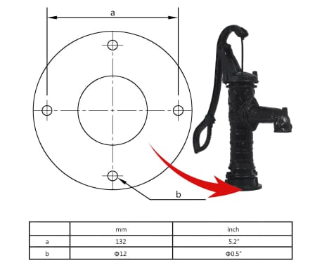 vidaXL Garden Water Pump with Stand Cast Iron[10/11]