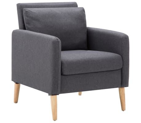 vidaXL Fotel, ciemnoszary, tkanina