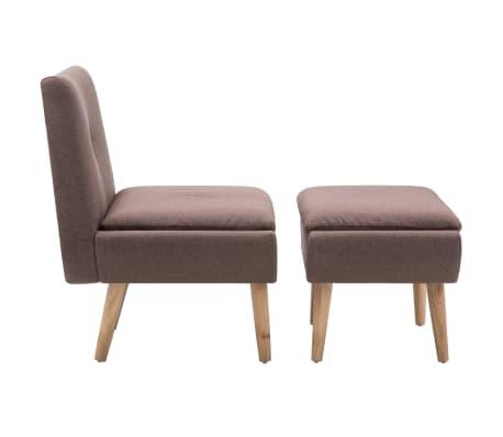 vidaXL Fauteuil met voetensteun stoffen bekleding bruin[3/15]