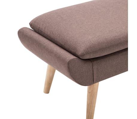 vidaXL Slipper-Stuhl mit Fußhocker Stoffpolsterung Braun[12/15]