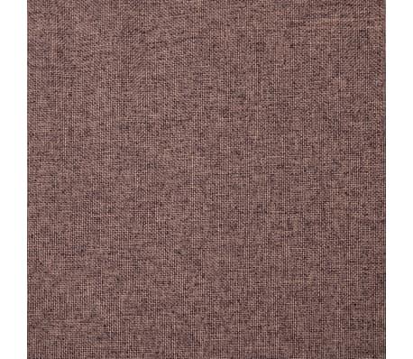 vidaXL Fotelj s stolčkom za noge z oblogo iz blaga rjave barve[13/15]