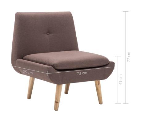 vidaXL Fotelj s stolčkom za noge z oblogo iz blaga rjave barve[14/15]