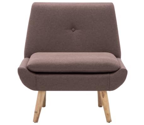 vidaXL Fotelj s stolčkom za noge z oblogo iz blaga rjave barve[5/15]