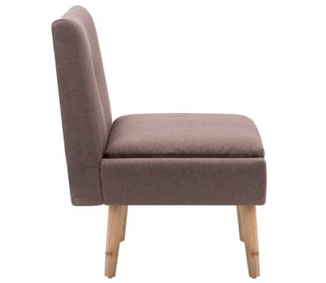 vidaXL Fotelj s stolčkom za noge z oblogo iz blaga rjave barve[6/15]