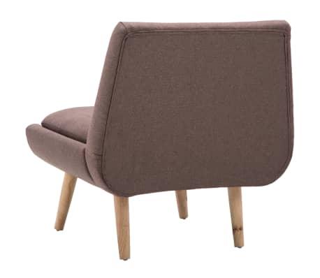 vidaXL Fotelj s stolčkom za noge z oblogo iz blaga rjave barve[7/15]