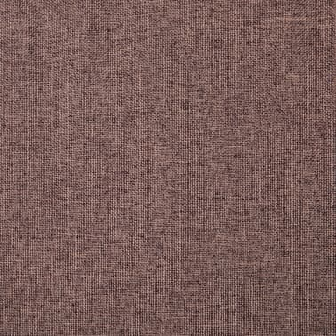 vidaXL Fotelj s stolčkom za noge z oblogo iz blaga rjave barve[3/15]
