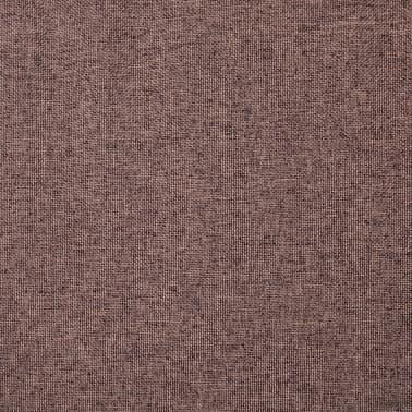 vidaXL Slipper-Stuhl mit Fußhocker Stoffpolsterung Braun[13/15]