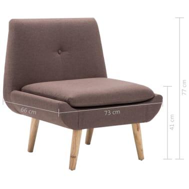 vidaXL Slipper-Stuhl mit Fußhocker Stoffpolsterung Braun[14/15]