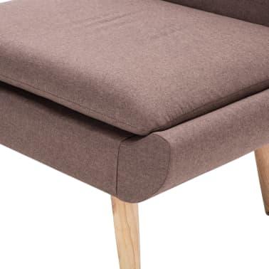 vidaXL Fotelj s stolčkom za noge z oblogo iz blaga rjave barve[8/15]