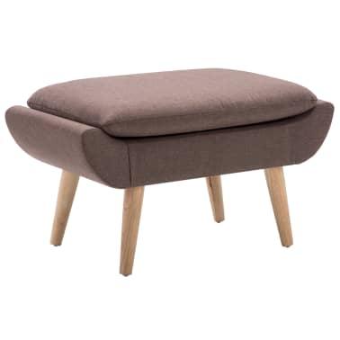 vidaXL Fotelj s stolčkom za noge z oblogo iz blaga rjave barve[9/15]