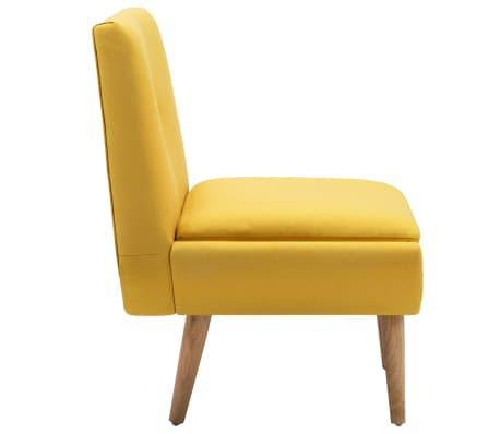 vidaXL Fotelj s stolčkom za noge z oblogo iz blaga rumene barve[6/15]