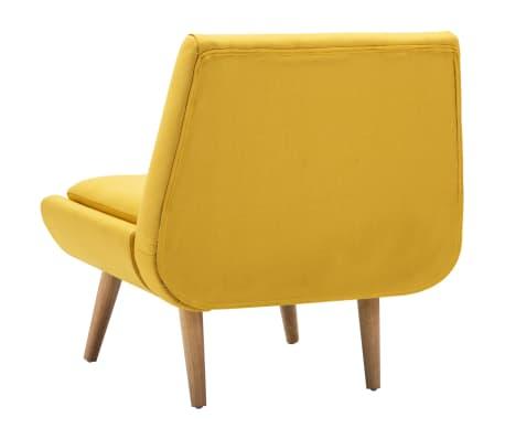 vidaXL Fotelj s stolčkom za noge z oblogo iz blaga rumene barve[7/15]