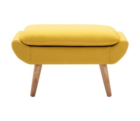 vidaXL Fotelj s stolčkom za noge z oblogo iz blaga rumene barve[10/15]