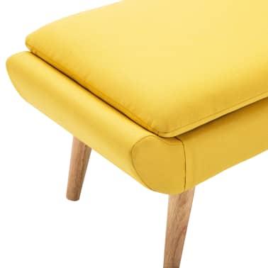 vidaXL Fotelj s stolčkom za noge z oblogo iz blaga rumene barve[12/15]