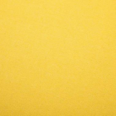 vidaXL Fotelj s stolčkom za noge z oblogo iz blaga rumene barve[13/15]